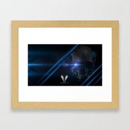 -0 blue Framed Art Print