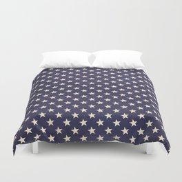 Navy Stars Duvet Cover