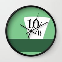mad hatter Wall Clocks featuring Mad Hatter by WDWCEC23