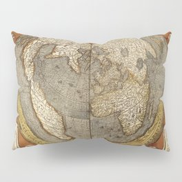 Heart-shaped projection map Pillow Sham