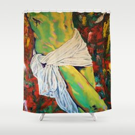 Jesus Christ & the Holy Grail Shower Curtain