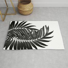 Palm Leaves Black & White Vibes #5 #tropical #decor #art #society6 Rug
