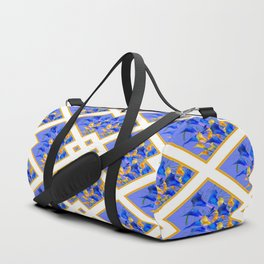 ABSTRACTED BLUE & GOLD PATTERN  CALLA LILIES  DESIGN Duffle Bag
