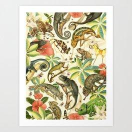 Chameleon Party Art Print