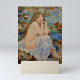 "Auguste Renoir ""Seated bather"" Mini Art Print"
