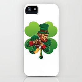 American Football Leprechaun - Lucky Irish iPhone Case