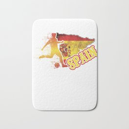 Football Worldcup Spain Spanish Spaniards Soccer Team Sports Footballer Rugby Gift Bath Mat