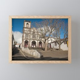 Church in Ponta Delgada Framed Mini Art Print