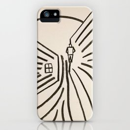 Study of a Man Walking Into the Sun iPhone Case