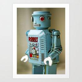 Tin Robot Art Print
