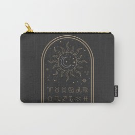 Sun, Moon and Zodiac Carry-All Pouch