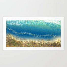 Abstract Seascape 04 wc Art Print