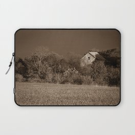 Abandoned Barn In The Trees Monochromatic / Sepia Landscape Photo Laptop Sleeve