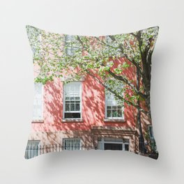 Brooklyn Heights in Spring Throw Pillow