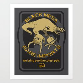 Black Mesa Rare Imports Art Print
