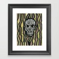 Skull Fiber Framed Art Print