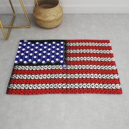 Bike USA Flag Rug