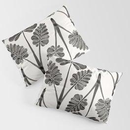 Tropical Palm Leaf Trifecta – Black Palette Pillow Sham