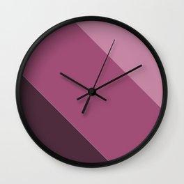 Lavender Magenta Wine Diagonal Wall Clock