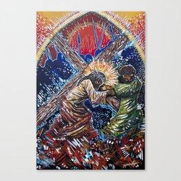 Jesus and Simon of Cyrene Canvas Print