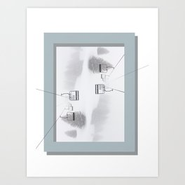 Cableway: Spider Of The Winter Art Print