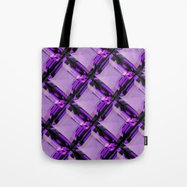 SQUARE CUT PURPLE FEBRUARY AMETHYST GEMS DIAGONAL PATTERN Tote Bag