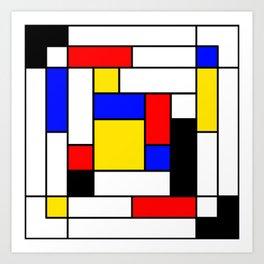 Mondrian Geometric Art 2 Art Print