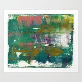 Abstract Z (Monoprint) Art Print
