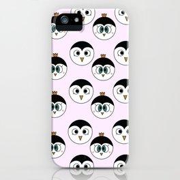 Penguin Love Pattern iPhone Case