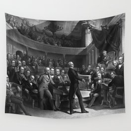 Henry Clay Speaking In The Senate Wall Tapestry