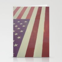 flag Stationery Cards featuring Flag by Karin Elizabeth
