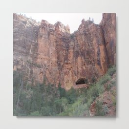 Zion Hole In the Wall Metal Print