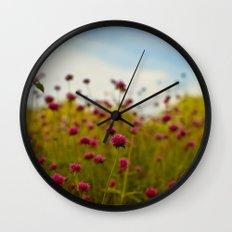 Wild Flowers Wall Clock