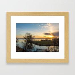 May Sunrise Framed Art Print
