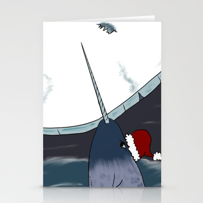 A Narwhal For Christmas Stationery Cards