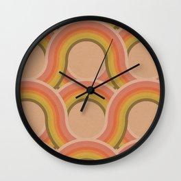 Rollin' Retro Road in Peachy Keen Tetxtured Wall Clock