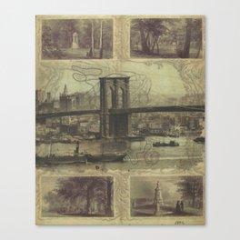 Brooklyn Bridge Green-Wood Cemetery Transfer Mixed Media Canvas Print