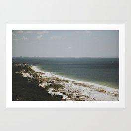 on the coast of florida Art Print