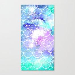 Galaxy Mermaid Scales Canvas Print