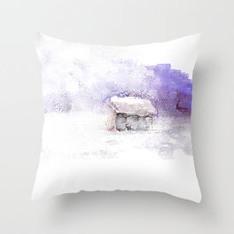 Blowing In Throw Pillow