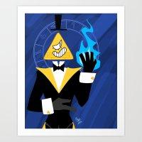 bill cipher Art Prints featuring Cipher by Palolabg