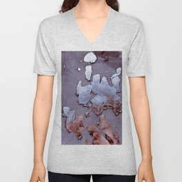 Abstract Chipped Paint In Cool Tones Unisex V-Neck