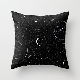 Snow Galaxy/ Abstract Throw Pillow