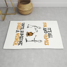Camping Gift Fun and Games Until Someone Loses A Weiner Camp Trip Rug
