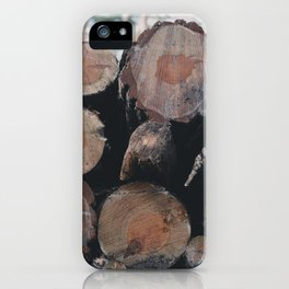 Chopped Wood iPhone Case