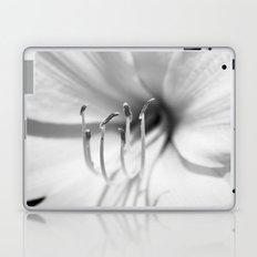 Black and White Macro Lily Laptop & iPad Skin