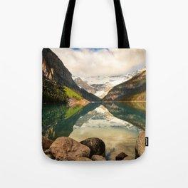 Symmetrical Lake Louise Tote Bag