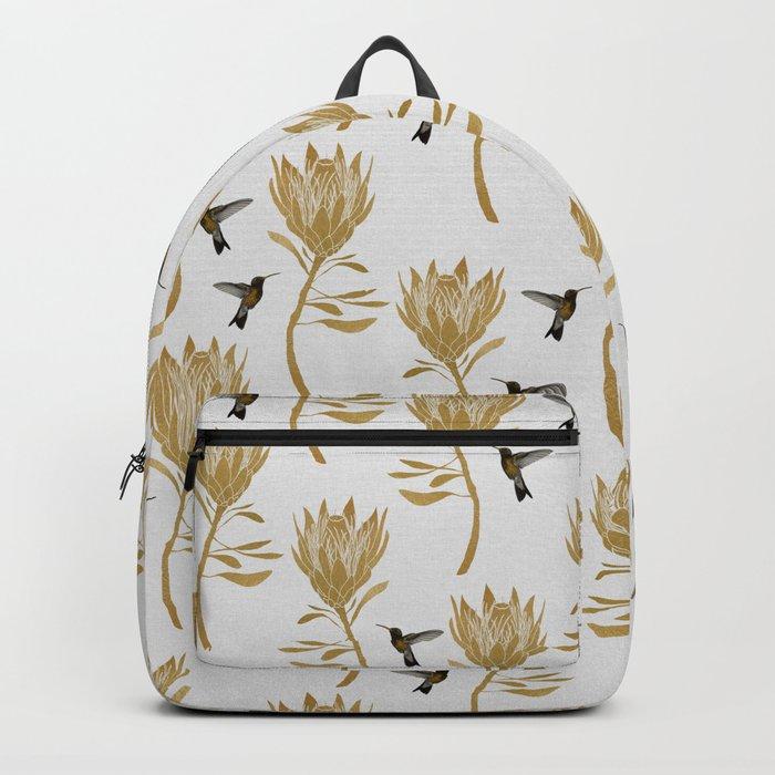 Hummingbird & Flower I Backpack
