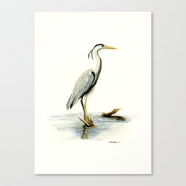 Blue Heron - watercolor bird, home decor, nursery wall art Canvas Print