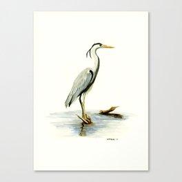 Blue Heron - watercolor bird, home decor, nursery wall art Canvas Print